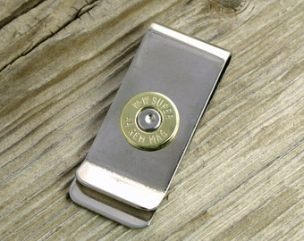Bullet Money Clip / 44 Magnum Brass Bullet Money Clip WIN-44MAG-BN-MC / 44 Mag Money Clip / Brass Money Clip / Men's Accessories / Custom