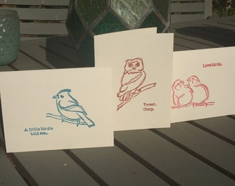 Bird Themed Cards (Pack of 3)