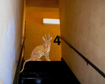 Wild  Leodeer On The Staircase, Signed, 8x10 digital archival print