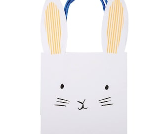 Meri meri gift bag etsy cute bunny favor bags set of 8 meri meri easter goodie bags negle Choice Image
