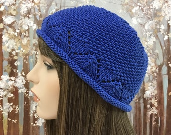 Cotton Hat, Summer Hat, Chemo Hat ' Faith-II'