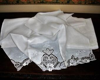 Antique linen napkins.