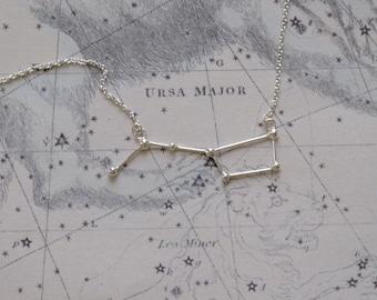 Ursa Major / Big dipper necklace sterling silver