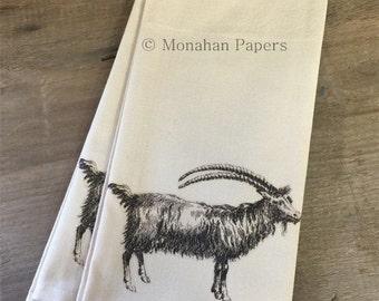 Goat Tea Towel - Kitchen - Houseware - Goat - Gift - Farmhouse - Country
