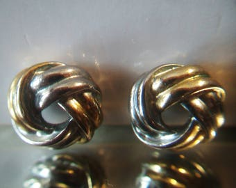 Two Tone Love Knot Post Earrings Studs infinity Costume Jewelry Fashion Accessories