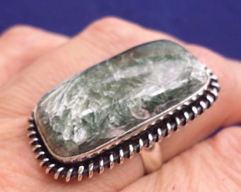 SERAPHINITE (BA57-21) and 925 sterling silver ring