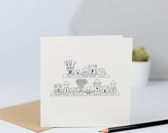 Happy Birthday Sweets card,sweet lover, sweet birthday, monochrome, hand drawn,illustration,sweeties, kids birthday
