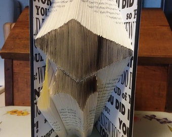 Graduation Cap Folded Book Art