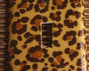 Brown Camouflage Single Toggle Light Switch Plate Cover