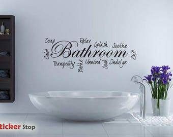 Word cloud - Bathroom - Wall sticker - Contemporary - Vinyl Decal