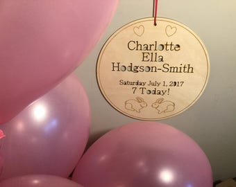 BIRTHDAY PLAQUE | personalised item
