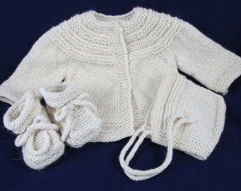 Alpaca Baby Sweater Set
