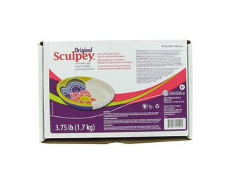 ORIGINAL SCULPEY White Polymer Clay Oven Bake 3.75 Pounds