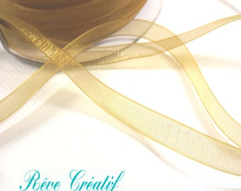 """5 meters Polyester Organza Ribbon, Goldenrod, 1/4""""(6mm)"""