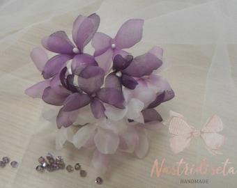 Zijden hortensia bloem