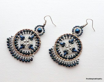 Beautiful Cosmos Earrings Tutorial / Beaded Earrings Tutorial / Miguel Ases Style Earrings / Earring Beading Pattern / DIY Beaded Jewelry