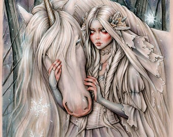 Snow Princess 6x8 Magical Fantasy Art Print By Enys Guerrero