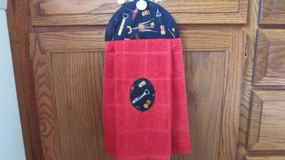 Kitchen Towel Hanging Dish Towel Corkscrew Tie Towel Hanging