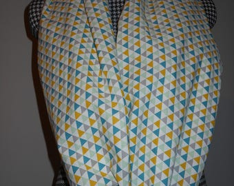 Triangles infinity scarf - Nursing scarf. One of a kind