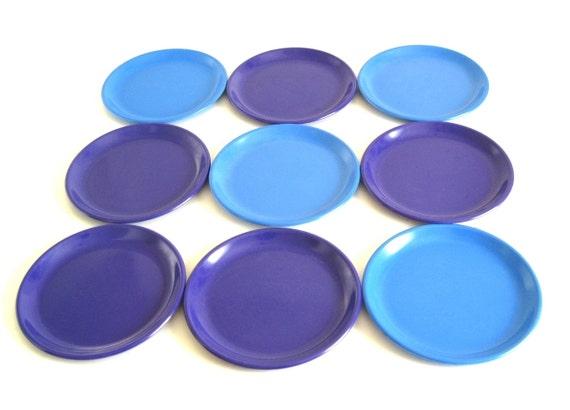 sc 1 st  Etsy & Zak Designs Plastic Plates Melamine Solid Color Purple Blue