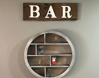 Rustic Barn Wood Bar Sign