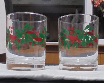 Set of 2 Christmas Glasses
