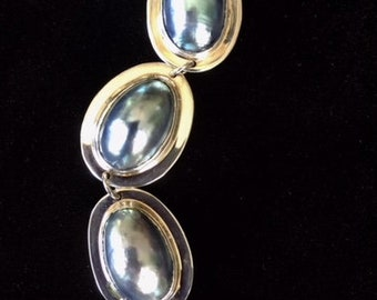 Osmena Pearl and Sterling Silver Bracelet
