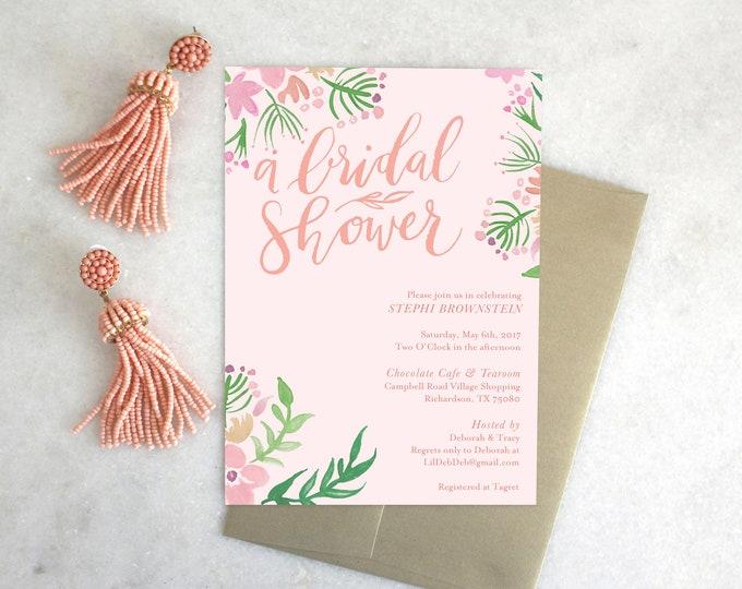 PRINTABLE Shower Invitation | Floral Days