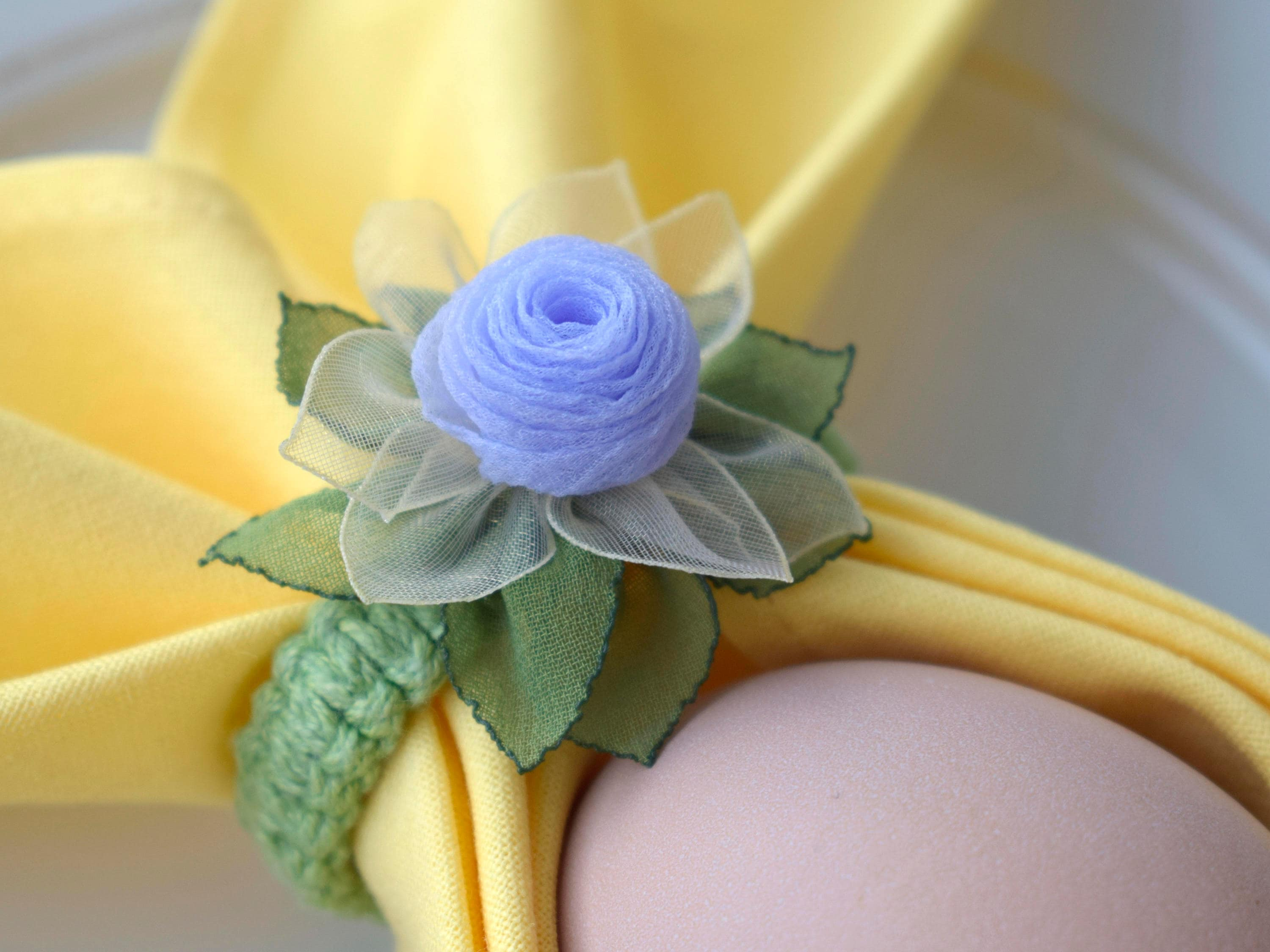 Spring table decor lilac flower napkin ring holder easter egg zoom mightylinksfo