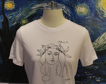 Françoise Gilot line drawing by Picasso Woman's t-shirt