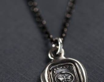 Forever ~ Butterfly & Serpent - Wax Seal Necklace Ouroboros Snake