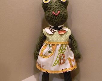 Frog Doll Crochet Amigurumi Plushie Plush Softy Plush Frog Princess Stuffed Animal Toy