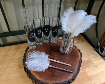 Ostrich Feather Guest Book Pen/FAVOR