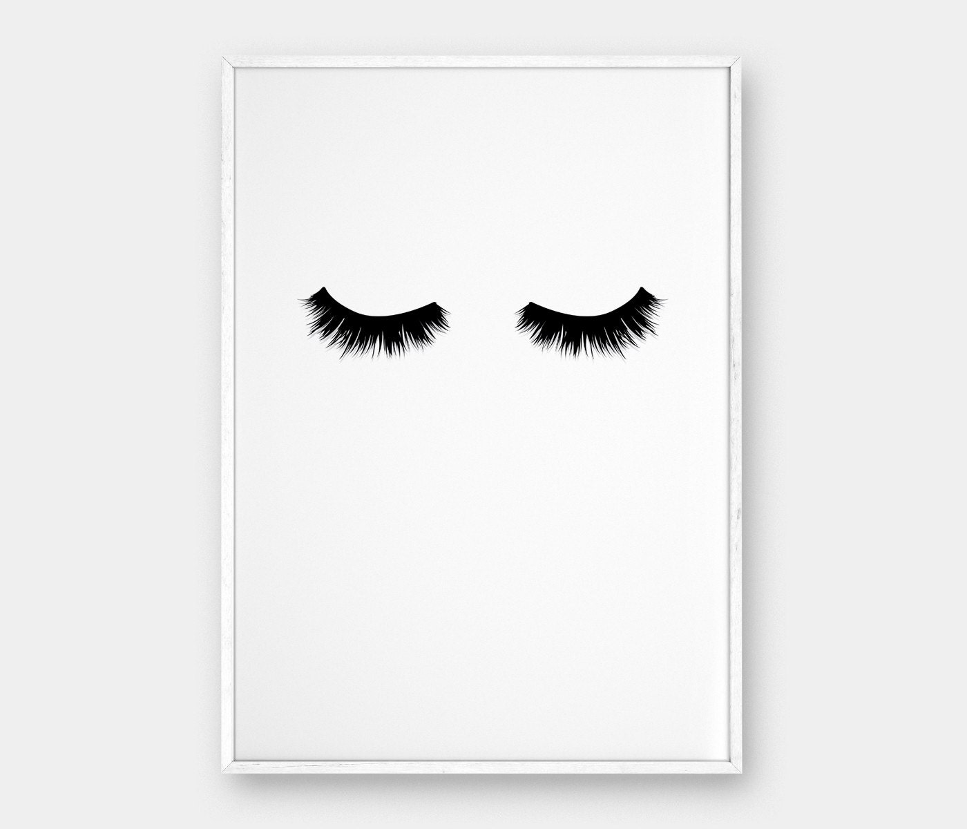Lashes wall art printable poster scandinavian poster for Black and white mural prints