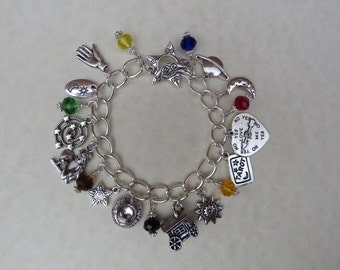 Magical Gypsy Witch  Fortune Teller Divination Charm Bracelet