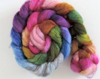 BFL sw Nylon,Ranunkeln, handgefärbte Fasern zum Spinnen,100g Kammzug, Sock Blend