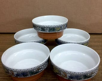 "Goebel Country ""Burgund"" (6) FRUIT BOWLS"