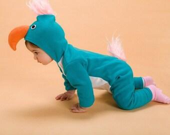 Parrot Costume/ Baby Costume/ Baby Halloween Costume/ Blue Bird Costume/ Baby Parrot gift