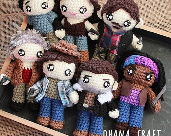 Free Shipping-The Walking Dead inspired crochet doll-The Walking Dead Plushies -Made to order-