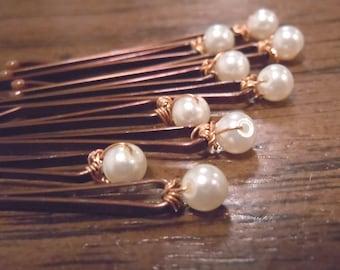 pearl bobbie pins
