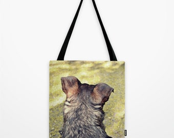 Dog Photo Tote Bag Puppy Tote Bag Choose Your size