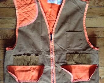 Vintage Saf T Bak duck canvas hunting vest Pennsylvania 42-44