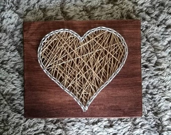 Wire stretched mini heart