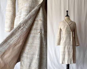 1960s woven silk coat