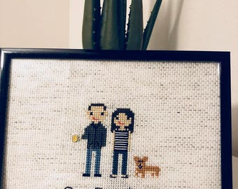 Custom Family Portrait >> Cross Stitch your Crew!