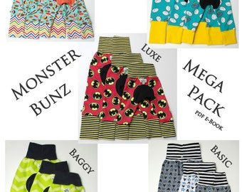 Monster Bunz Mega Pack ~ pdf sewing pattern e-Book ~ 5 Styles ~ Instant Download