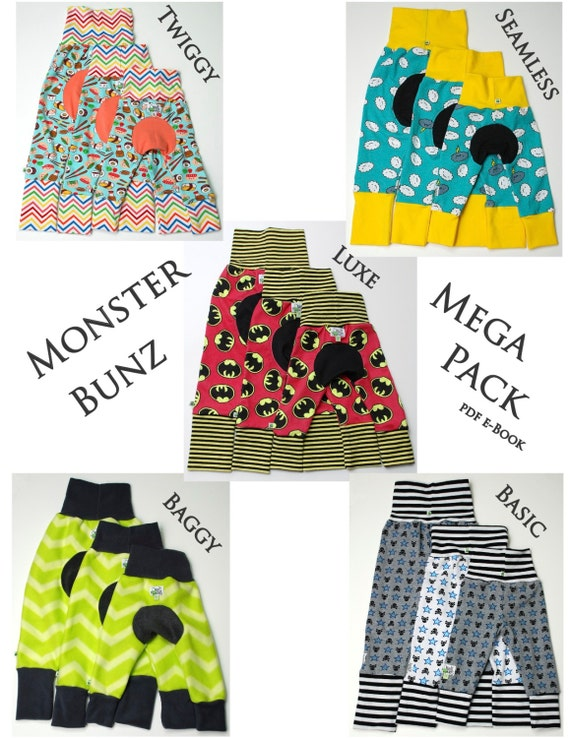 Monster Bunz Mega Pack pdf sewing pattern e-Book 5 Styles