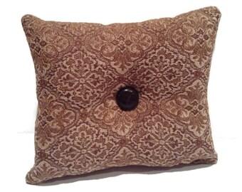 Decorative brown toss pillow, home decor, throw pillows