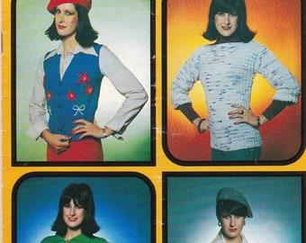 ON SALE Patons Knitting Pattern No 507 for Women in Caressa, Columbine, Katie - Vintage 1970's Knit Pattern.
