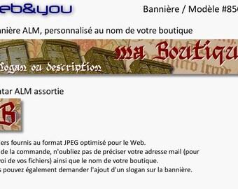 Custom banner, avatar and shop 'Médiéval'